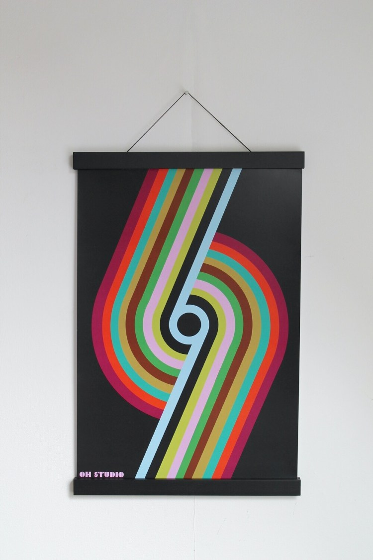 'Striped 69' A3 Print