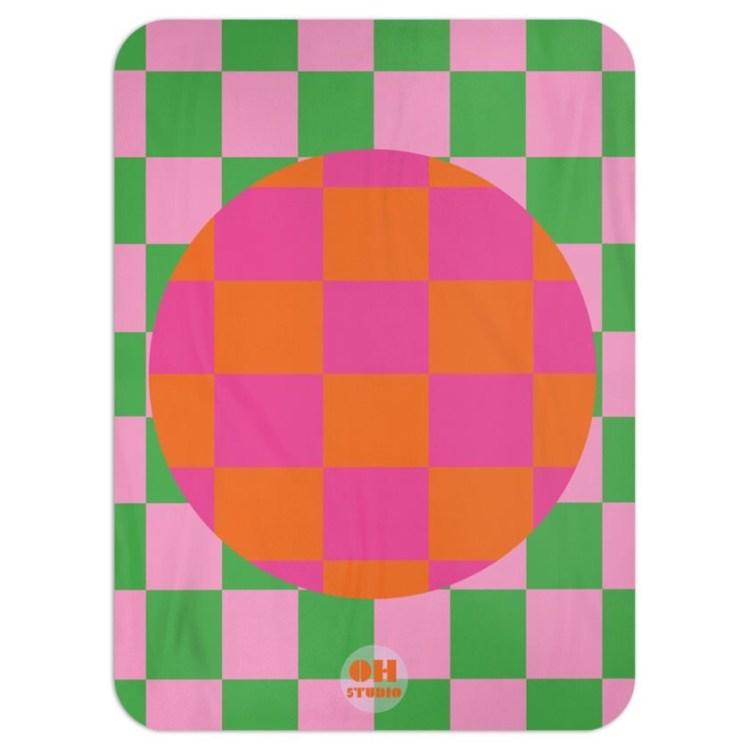 Chequered Circle Throw