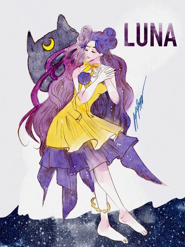Luna โปสการ์ดขนาด a6