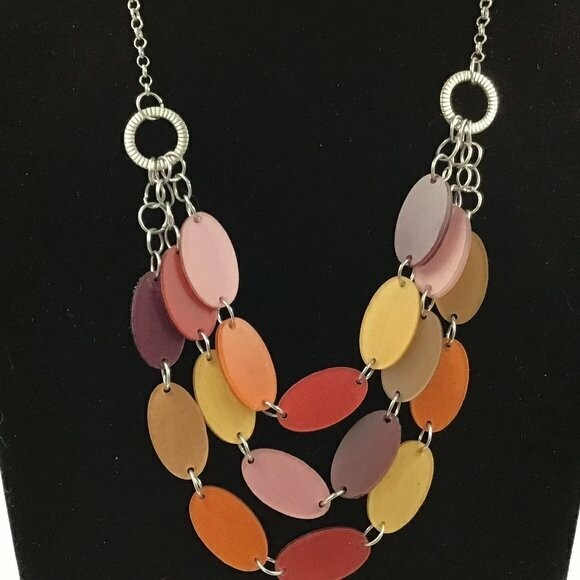 Autumn Senegal Necklace by Color by Amber