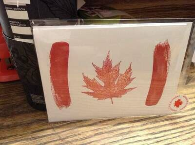 Canada Flag Abstract Greeting Card/ tourist souvenir/ donation card/ Canadian Event Card