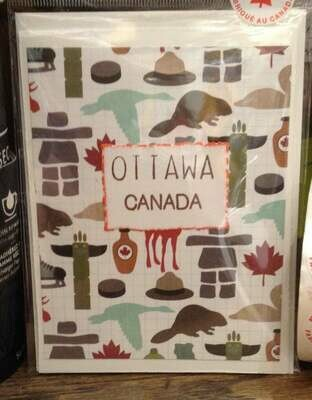 Canadian Icon's Ottawa Canada Greeting Card