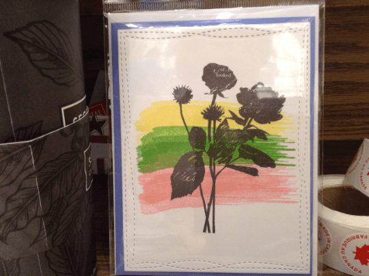 Rose Silhouette on inked background Any Occasion Greeting Card