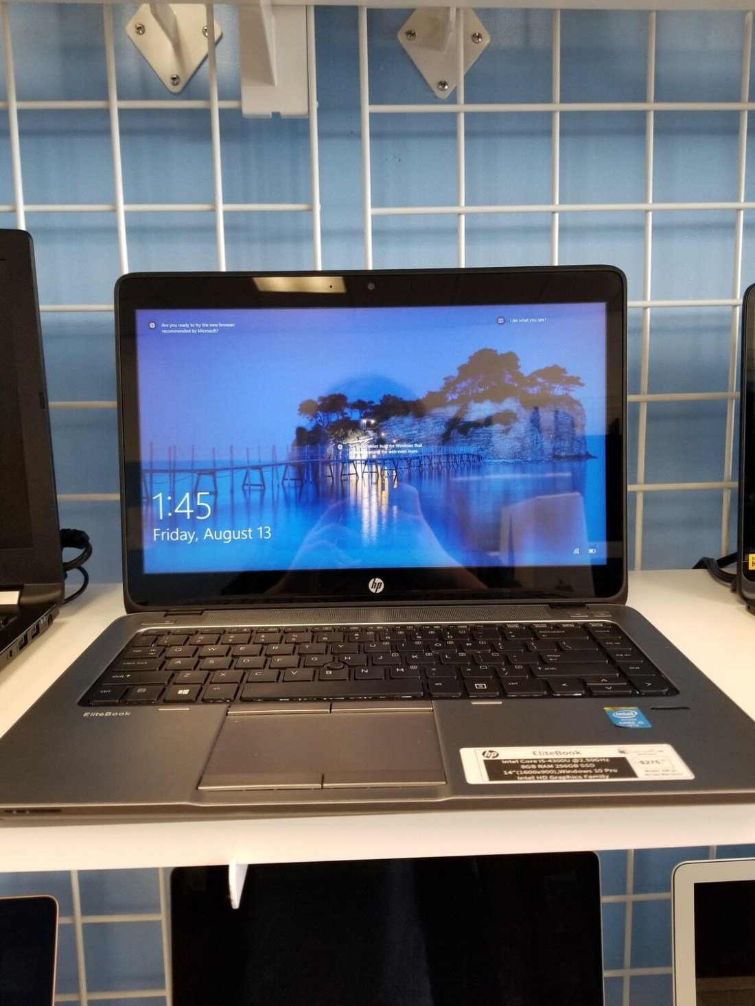 EliteBook Intel Core i5-4300U @2.50GHz 8GB Ram 256GB SSD 14