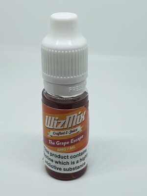 Wizmix The Grape Escape 10ml 6mg 50/50