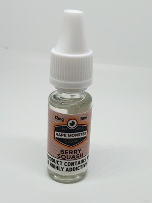 Vape Monster Berry Squash 10ml 12mg 60/40
