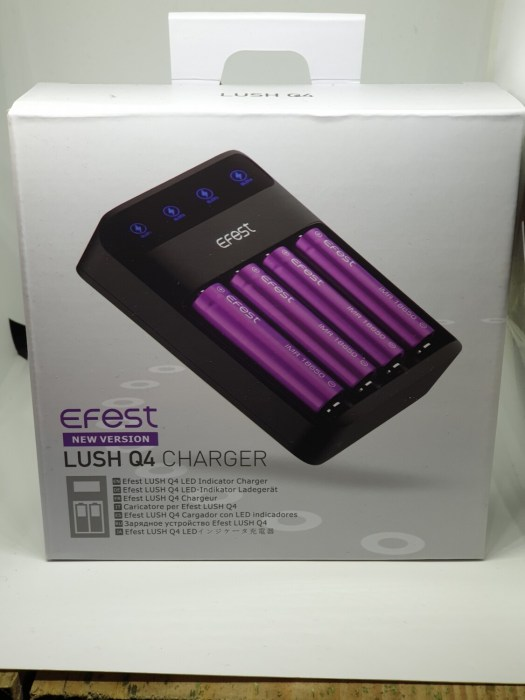 Efest Lush Q4 4 Bay Battery Charger
