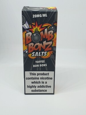 Bomb Bonz Salts Toffee Bon Bons 10ml 20mg