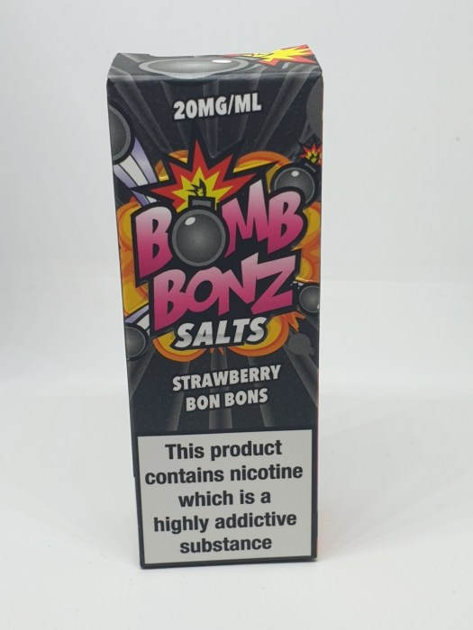 Bomb Bonz Salts Strawberry Bon Bons 10ml 20mg