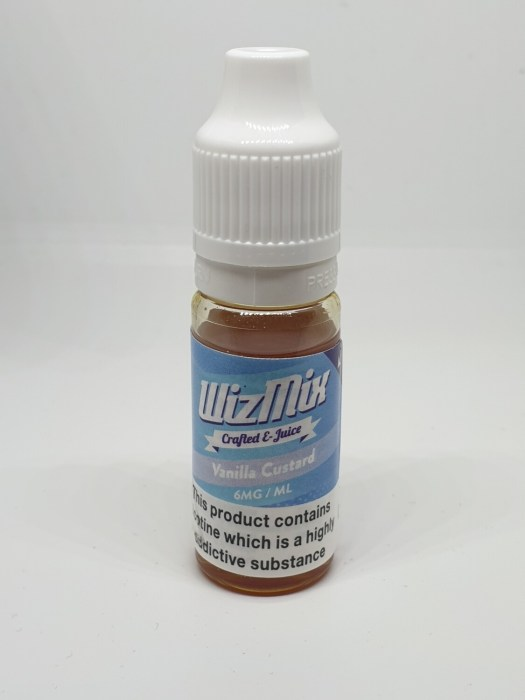 Wizmix Vanilla Custard 10ml 6mg 50/50