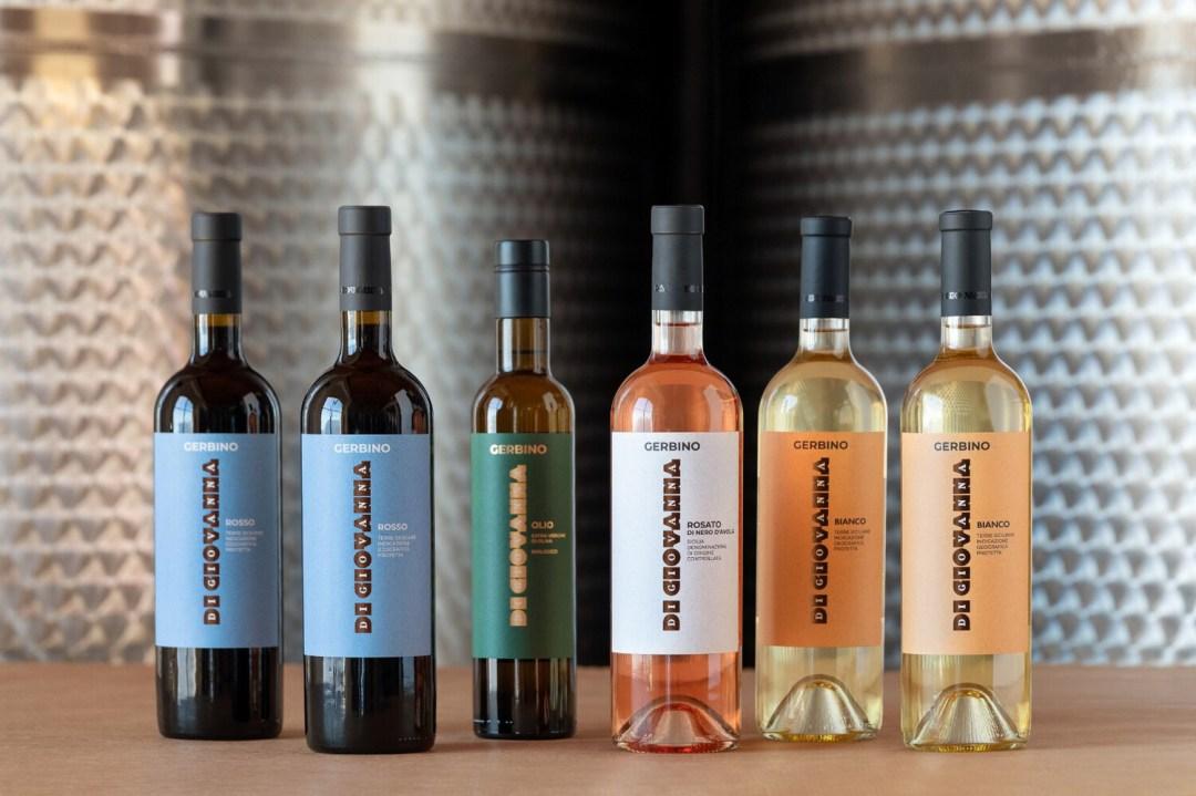 Vino e olio d'oliva biologico GERBINO - 6 bottiglie