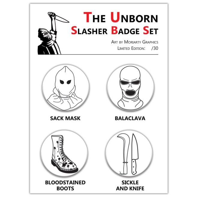 The Unborn - Slasher Badge Set