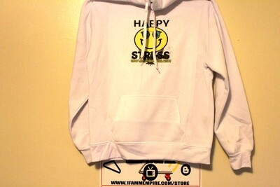 Happy Stress White Hoodie