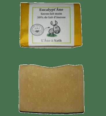 Eucalypt'Âne, savon 30% de lait d'ânesse, saponification à froid