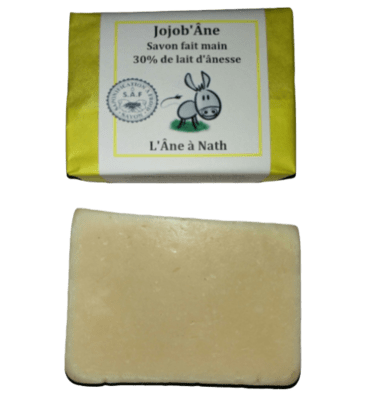 Jojob'Âne, savon 30% de lait d'ânesse, saponification à froid