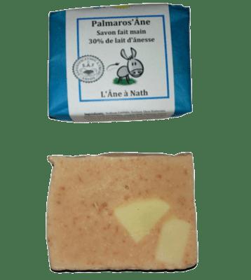Palmaros'Âne, savon 30% de lait d'ânesse, saponification à froid