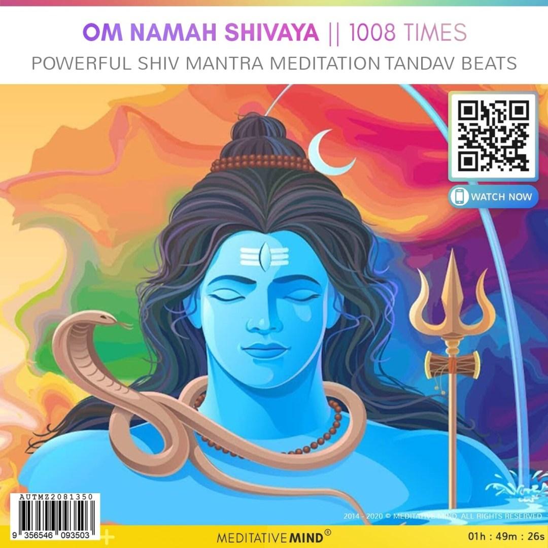 OM NAMAH SHIVAYA || 1008 Times - Powerful Shiv Mantra Meditation Tandav Beats