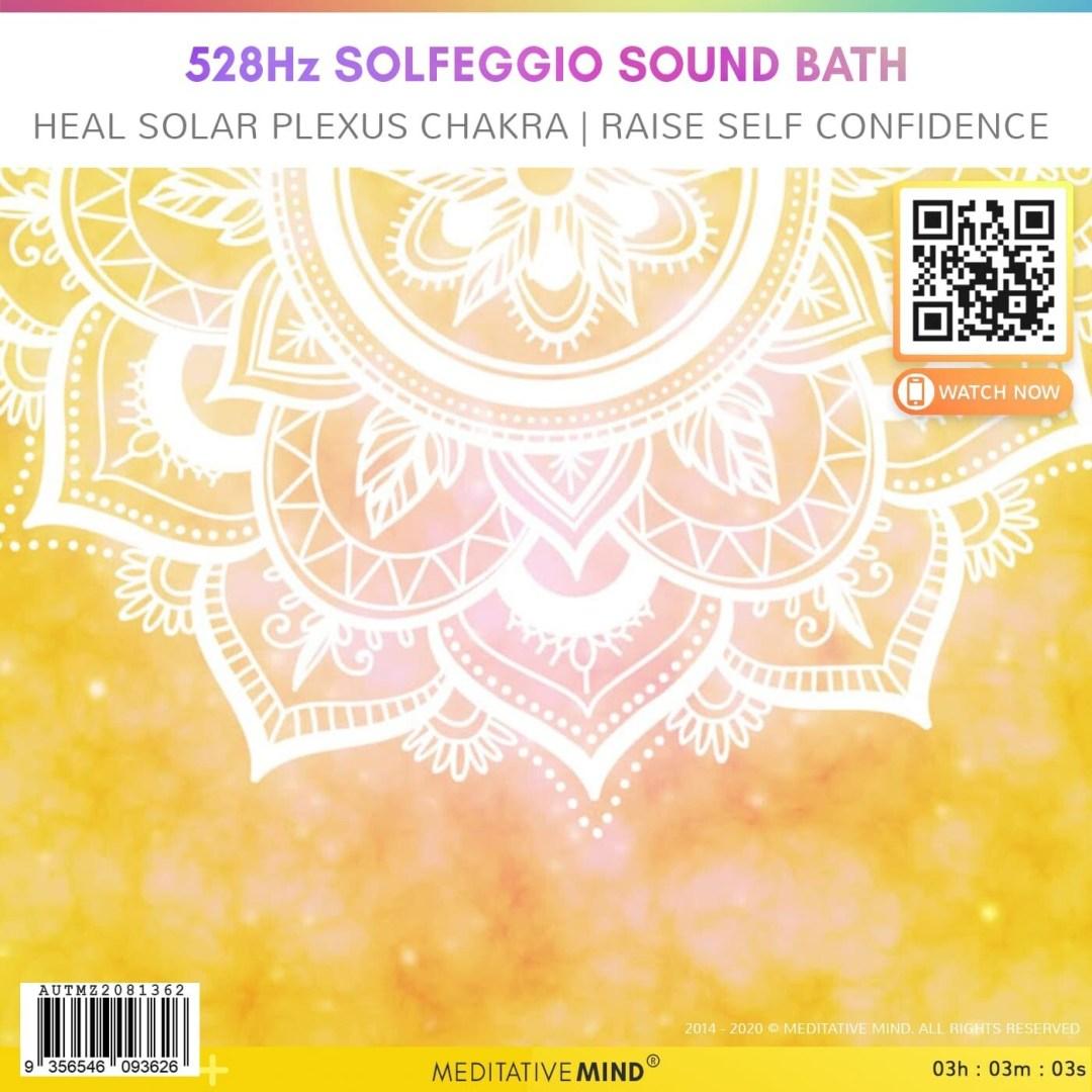 528Hz Solfeggio Sound Bath - Heal Solar Plexus Chakra | Raise Self Confidence