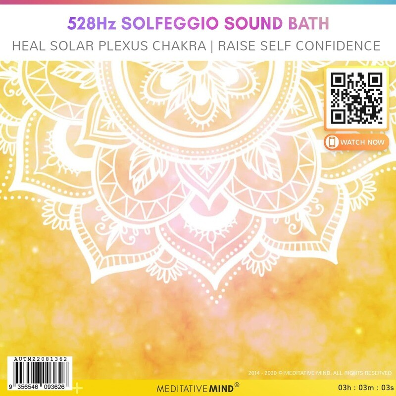 528Hz Solfeggio Sound Bath - Heal Solar Plexus Chakra | Raise Self Confidence