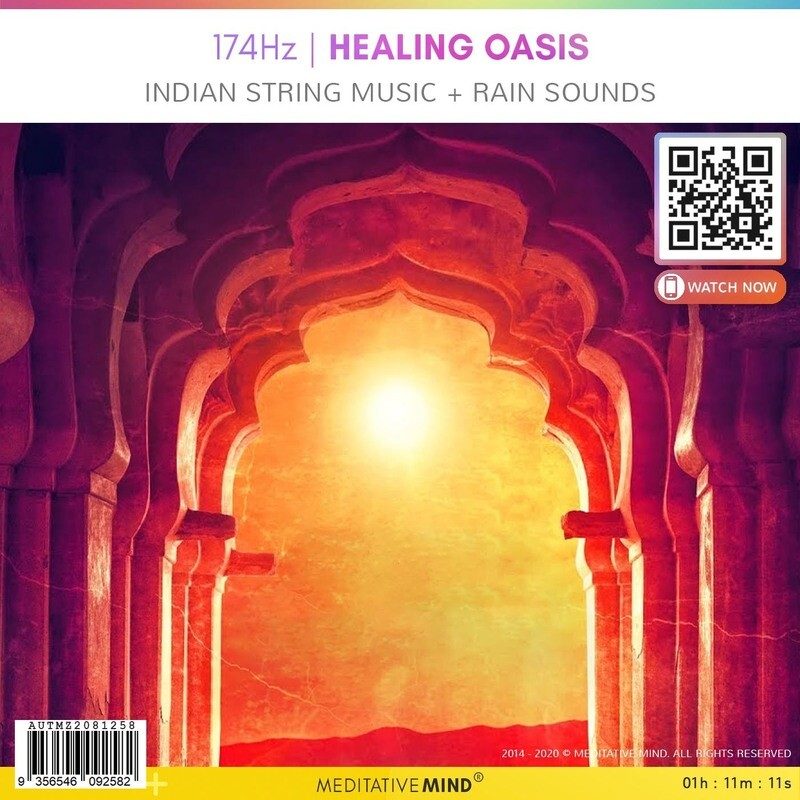 174Hz | HEALING OASIS - Indian String Music + Rain Sounds