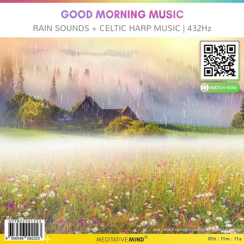 Good Morning Music - Rain Sounds + Celtic Harp Music l 432Hz