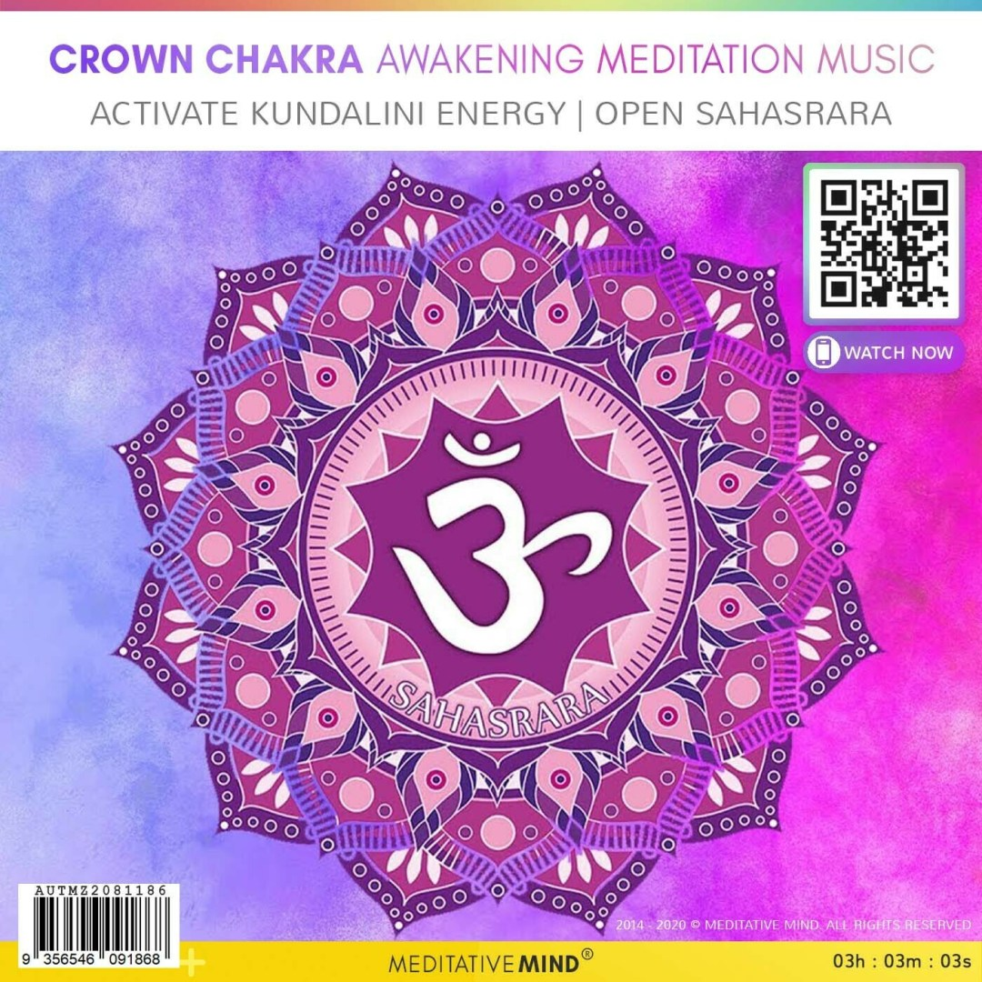 CROWN CHAKRA AWAKENING MEDITATION MUSIC - Activate Kundalini Energy | Open Sahasrara