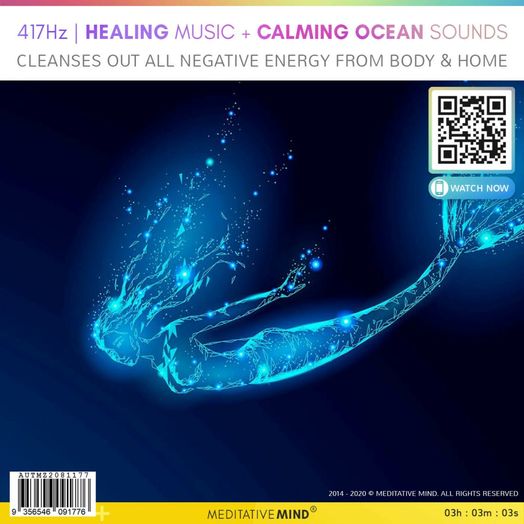 417Hz | HEALING MUSIC + CALMING OCEAN SOUNDS - Cleanses Out All Negative Energy from Body & Home