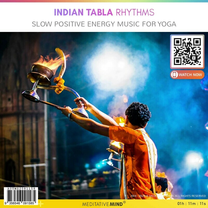 INDIAN TABLA Rhythms - Slow Positive Energy Music for Yoga