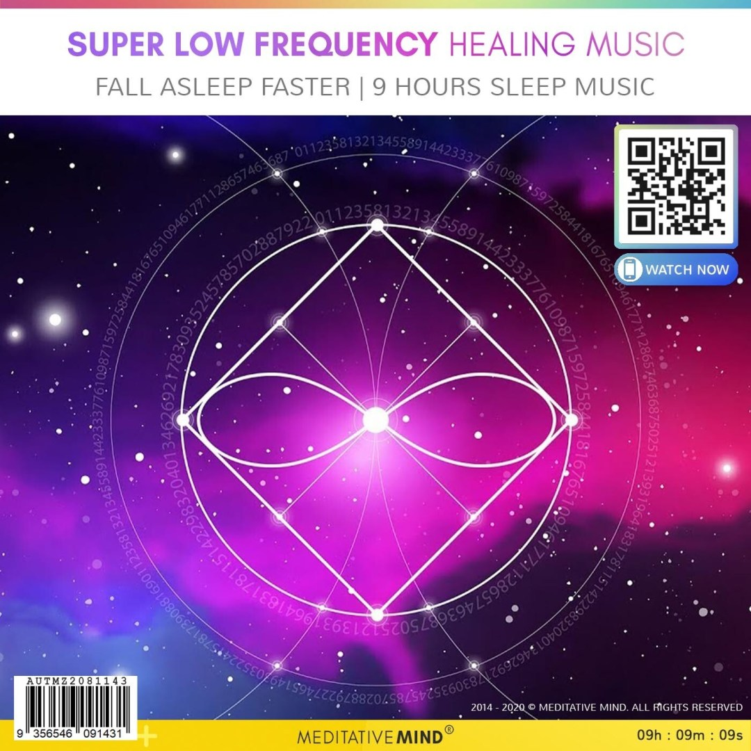 Super Low Frequency Healing Music - Fall Asleep Faster | 9 Hours Sleep Music