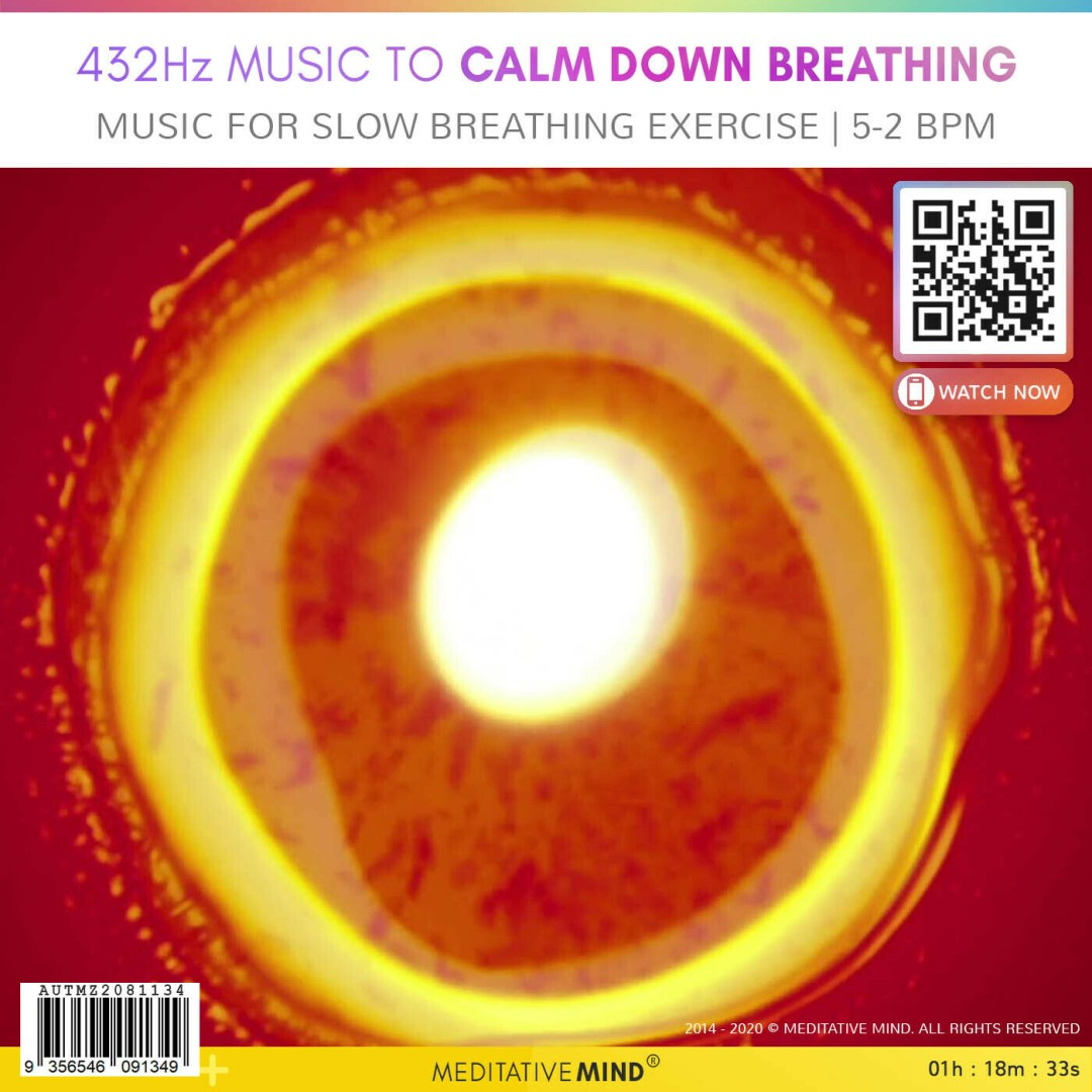 432Hz Music to Calm Down Breathing - Music for Slow Breathing Exercise | 5-2 bpm