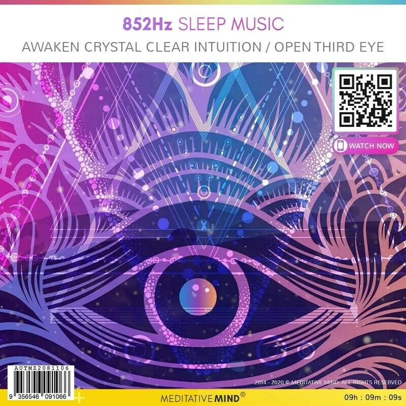852Hz Sleep Music - Awaken Crystal Clear Intuition / Open Third Eye