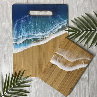 Resin Bamboo Cutting Board Set - Blue