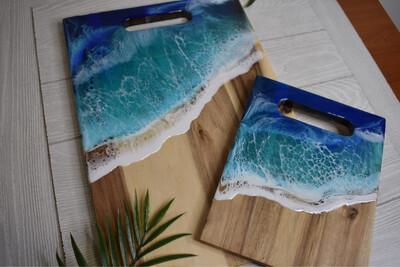 Custom Resin Cutting Board Set
