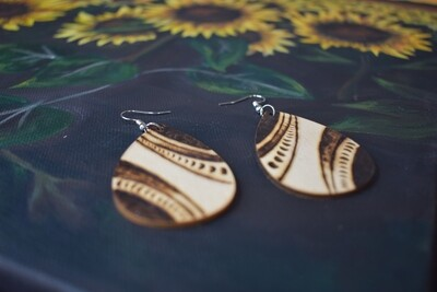 Abstract Wood Earrings