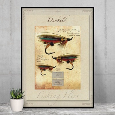 Dunkeld Salmon Fly - High Quality Vintage-Style Print