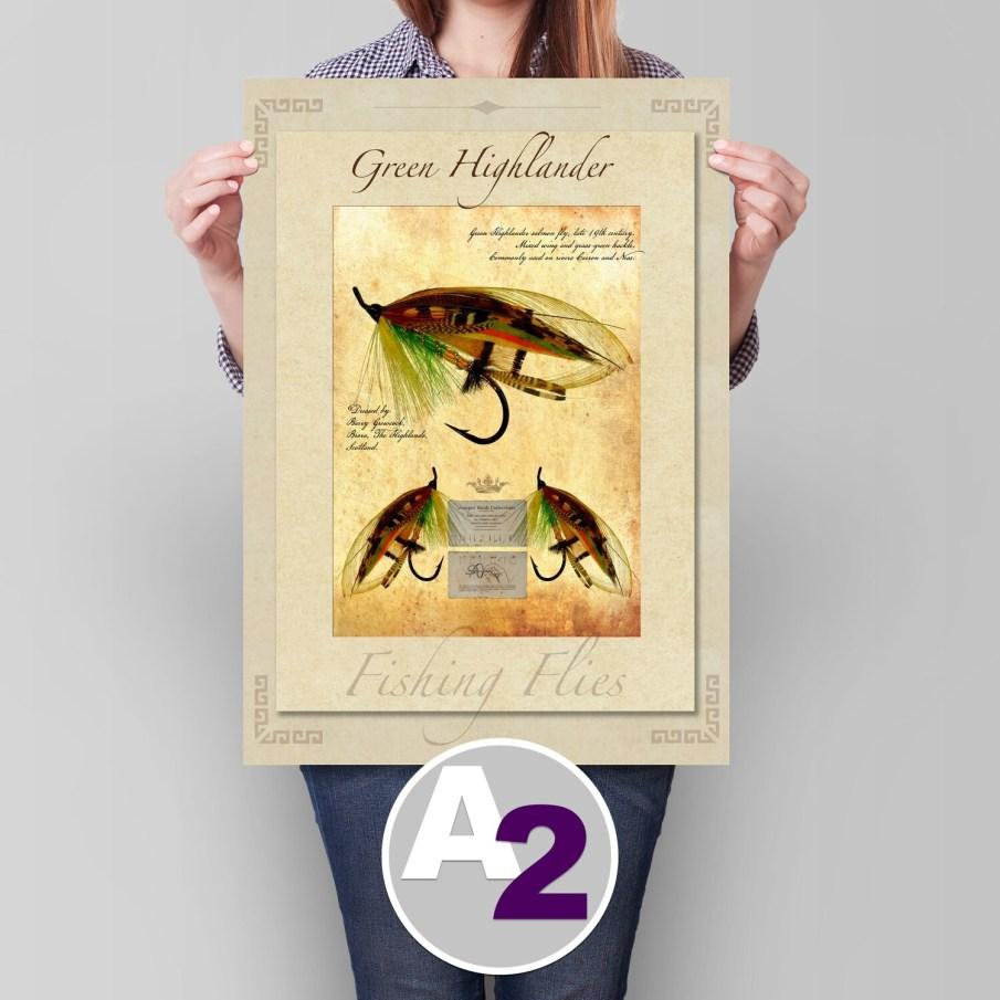 Green Highlander Salmon Fly - A2 (24