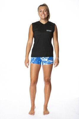 BRING IT WOMENS  SLEEVELESS PERFORMANCE TEE  | BLACK