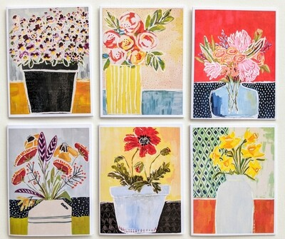 A Collection of Flowers- mixed box of 6 cards
