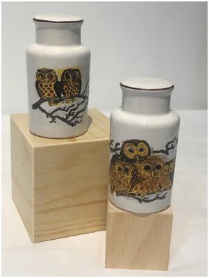 Vintage Owl Salt & Pepper Shakers