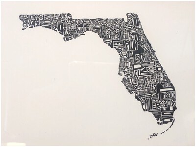 Framed Florida Wall Art