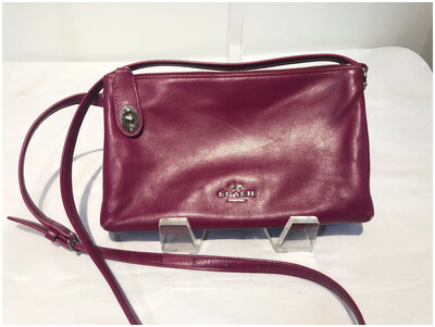 Coach Leather Fuchsia Crossbody