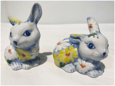 Ceramic Salt & Pepper Bunnies