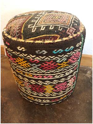 Vintage Kilim Handmade Ottoman