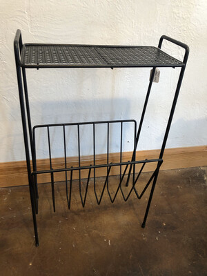 Vintage Black Metal Side Table