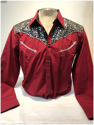 Vintage Ace Of Diamond Western Men's Shirt