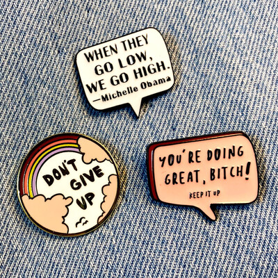 Positive Vibes Pin Set