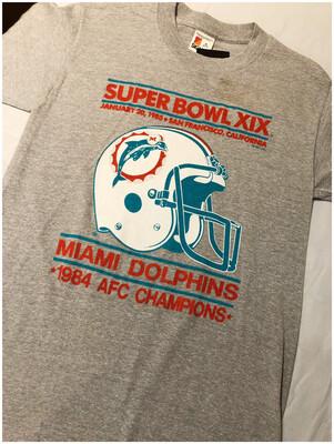 Vintage 1985 Super Bowl XIX Miami Dolphins Tee