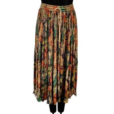 Modern Boho Floral Elastic Skirt