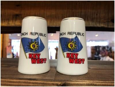 Vintage Conch Republic Key West Salt & Pepper