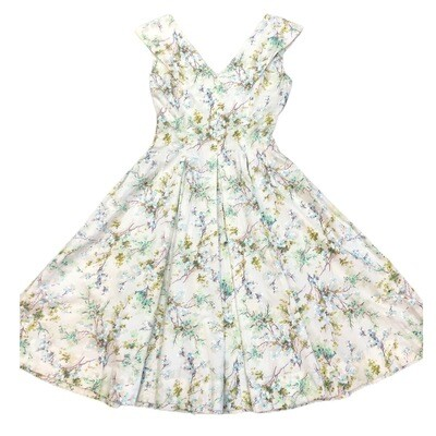 Vintage 1960's Handmade Floral Cotton Dress